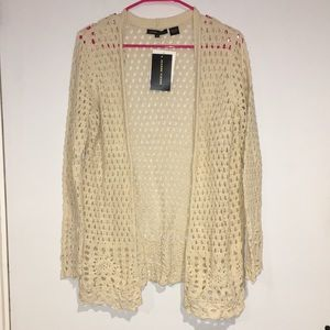 Jeanne Pierre Cream colored NWT crocheted sweater